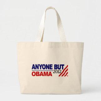 Cualquier persona pero Obama 2012 Bolsas Lienzo