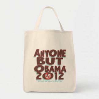 Cualquier persona pero Obama 2012 camisetas y engr Bolsas De Mano