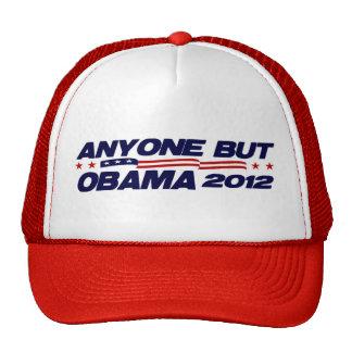 Cualquier persona pero Obama 2012 Gorros