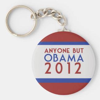 Cualquier persona pero Obama 2012 Llavero Redondo Tipo Pin