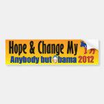 Cualquier persona pero Obama 2012 - Obama anti Pegatina De Parachoque