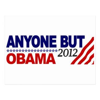 Cualquier persona pero Obama 2012 Postal