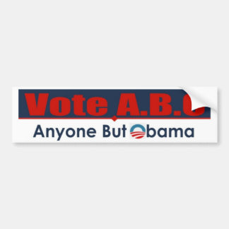 Cualquier persona pero Obama Pegatina Para Auto