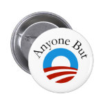 Cualquier persona pero Obama w/Logo Pin