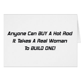 Cualquier persona puede comprar un coche de carrer tarjeta de felicitación