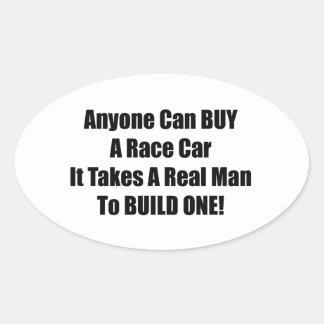 Cualquier persona puede comprar un coche de pegatina ovalada