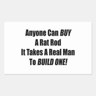 Cualquier persona puede comprar una rata Rod que Pegatina Rectangular