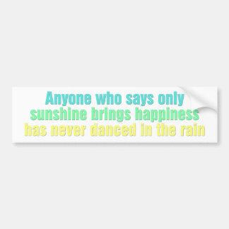 Cualquier persona que dice solamente la sol trae f etiqueta de parachoque