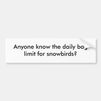 ¿Cualquier persona sabe el límite diario del bolso Pegatina Para Auto