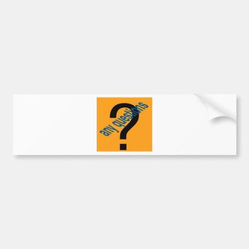 cualquier questions4 pegatina de parachoque