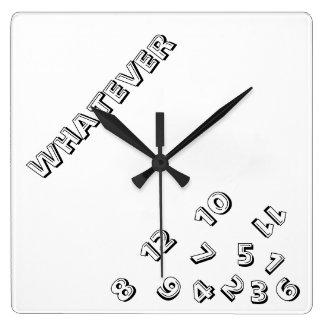 Cualquier reloj de pared