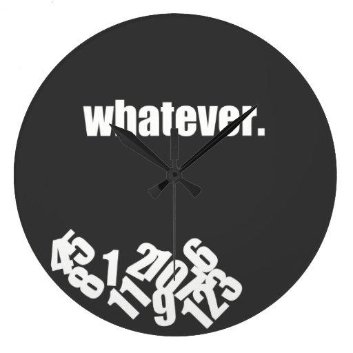 Cualquier reloj de pared sucio de los números