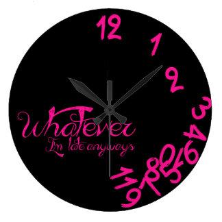 Cualquier reloj - reloj de pared de las rosas