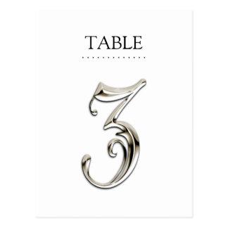 Cualquier tabla de color numera la plata de lujo postal