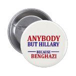 Cualquiera pero Hillary Pin Redondo 5 Cm