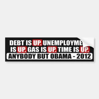Cualquiera pero Obama - 2012 Pegatina De Parachoque