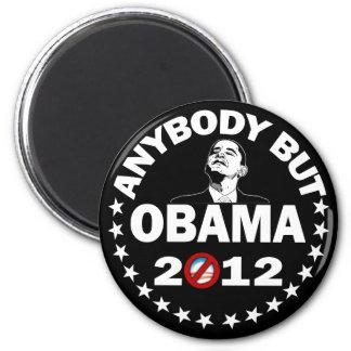 Cualquiera pero Obama - 2012 Imán Redondo 5 Cm
