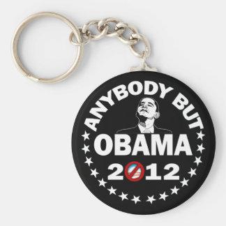 Cualquiera pero Obama - 2012 Llavero Redondo Tipo Pin