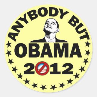 Cualquiera pero Obama - 2012 Pegatina Redonda