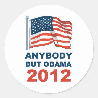 Cualquiera pero Obama 2012 Pegatina Redonda