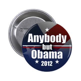 Cualquiera pero Obama 2012 Pin Redondo De 2 Pulgadas
