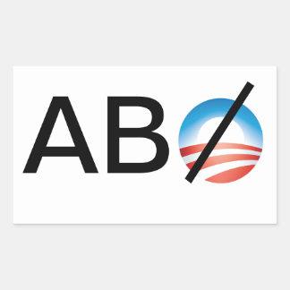 Cualquiera pero Obama Pegatina Rectangular