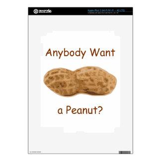 ¿Cualquiera quiere un cacahuete? Cacahuete gigante Pegatinas Skins Para iPad 3