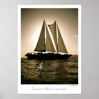 Cuan Law ~ British Virgin Islands ~ Travel Poster