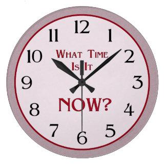 ¿Cuándo ahora está? Reloj Redondo Grande