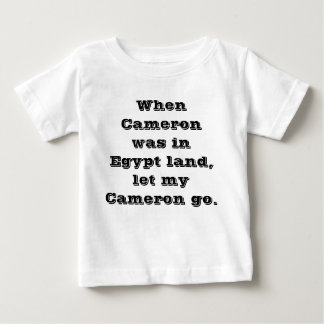 Cuando Cameron estaba en la tierra de Egipto Playera De Bebé