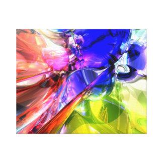 Cuando chocan los arco iris impresión en lienzo