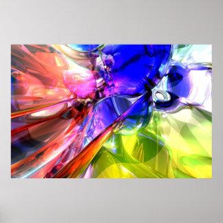 Cuando chocan los arco iris poster