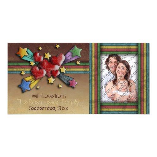 Cuando chocan los corazones, personalizable tarjetas fotográficas personalizadas