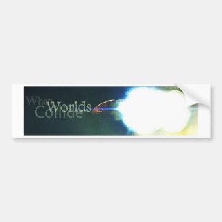 Cuando chocan los mundos etiqueta de parachoque