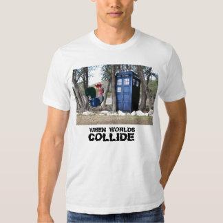 CUANDO CHOCAN los MUNDOS camiseta Playeras