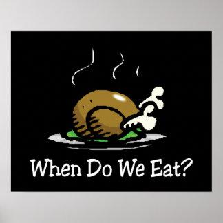Cuando comemos el día de fiesta Turquía Impresiones