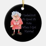 Cuando conseguí el ornamento casado del humor ornaments para arbol de navidad