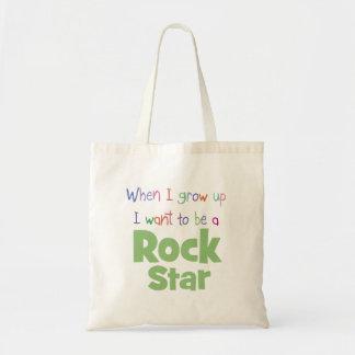 Cuando crezco a la estrella del rock bolsas lienzo