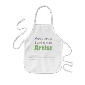 Cuando crezco al artista delantal infantil