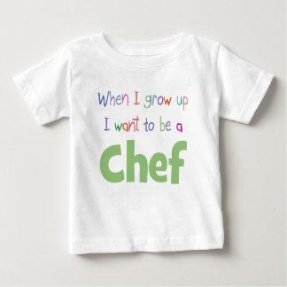 Cuando crezco al cocinero playeras