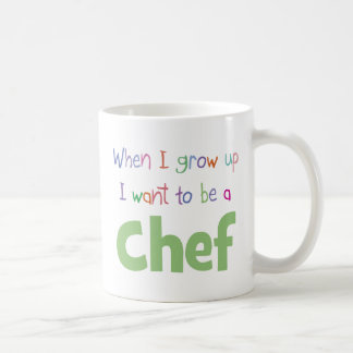 Cuando crezco al cocinero taza básica blanca