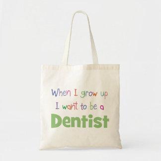 Cuando crezco al dentista bolsa lienzo
