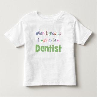 Cuando crezco al dentista playera de bebé