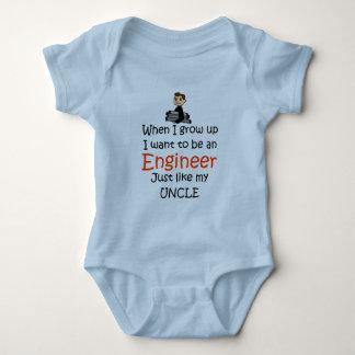 Cuando crezco al ingeniero body para bebé
