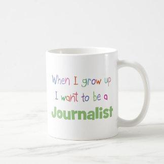 Cuando crezco al periodista taza de café