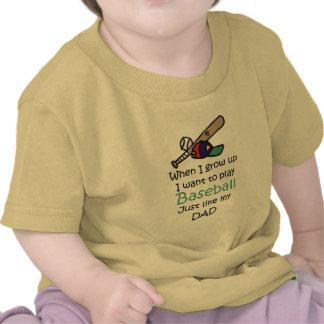 Cuando crezco béisbol con el gráfico camisetas