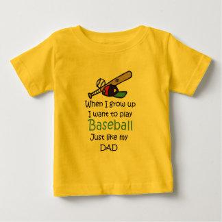 Cuando crezco béisbol con el gráfico t shirts