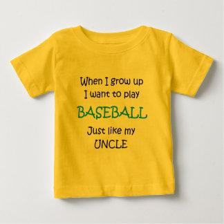Cuando crezco el texto del béisbol solamente tee shirt