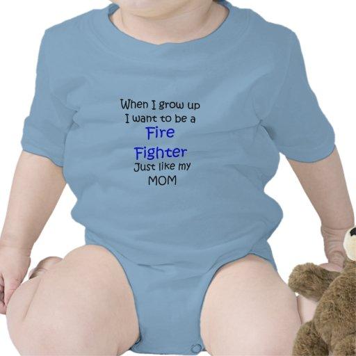 Cuando crezco el texto del bombero solamente trajes de bebé