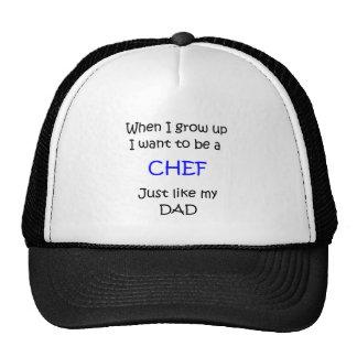 Cuando crezco el texto del cocinero solamente gorro de camionero